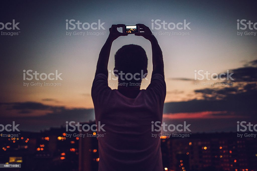 Photographing that perfect time of the day stock photo