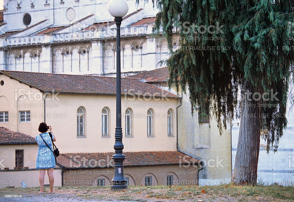 Photographing the beauties of Tuscany royalty-free stock photo
