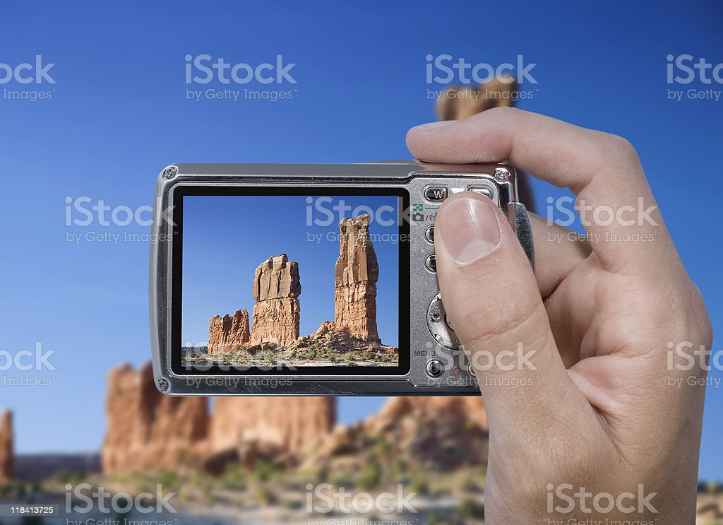 Photographing the Desert royalty free stockfoto