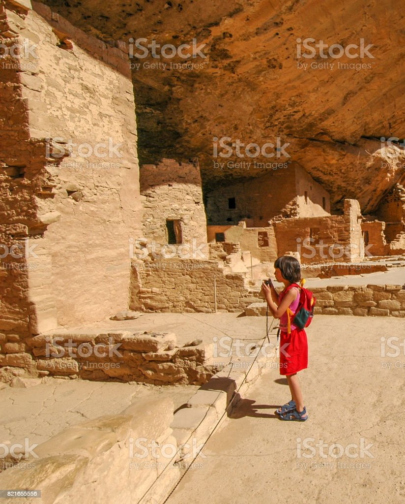 Photographing the ruins stock photo