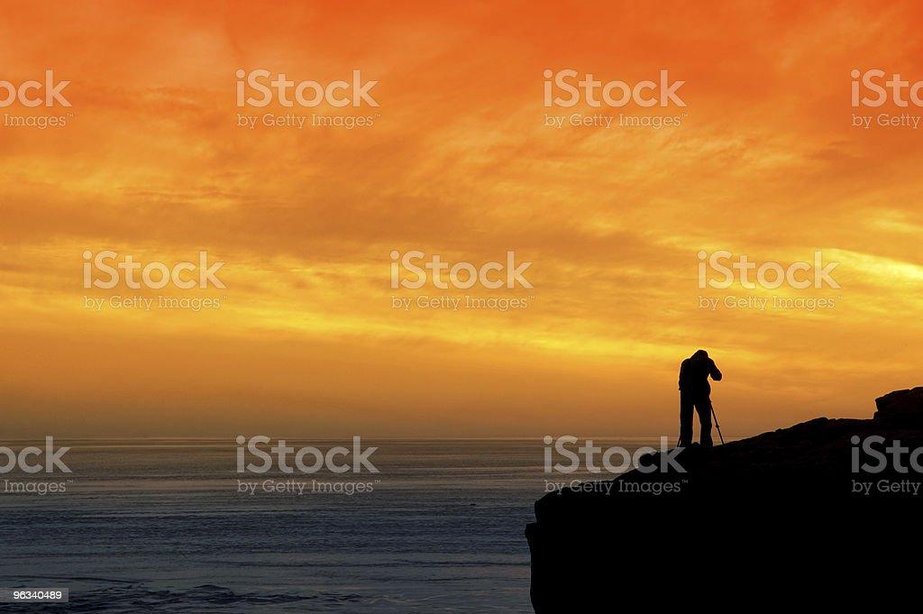 Fotografować Zachód słońca - Zbiór zdjęć royalty-free (Fotograf)