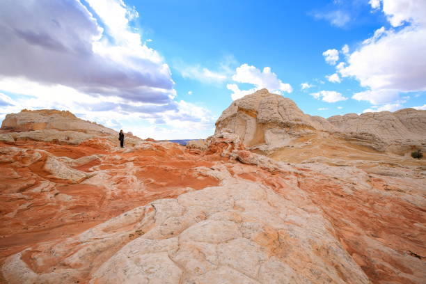 Photographing White Pocket, Arizona-USA stock photo