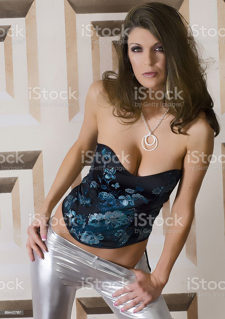 Photographs of a model with Brown hair royalty-free stock photo