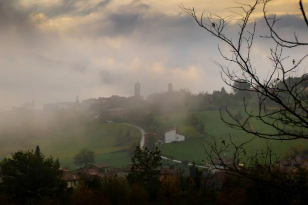 photographs of views from mount penice - bobbio foto e immagini stock
