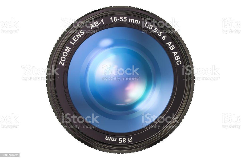 Objectif de caméra de photographie, 3D rendering isolé sur fond blanc - Photo