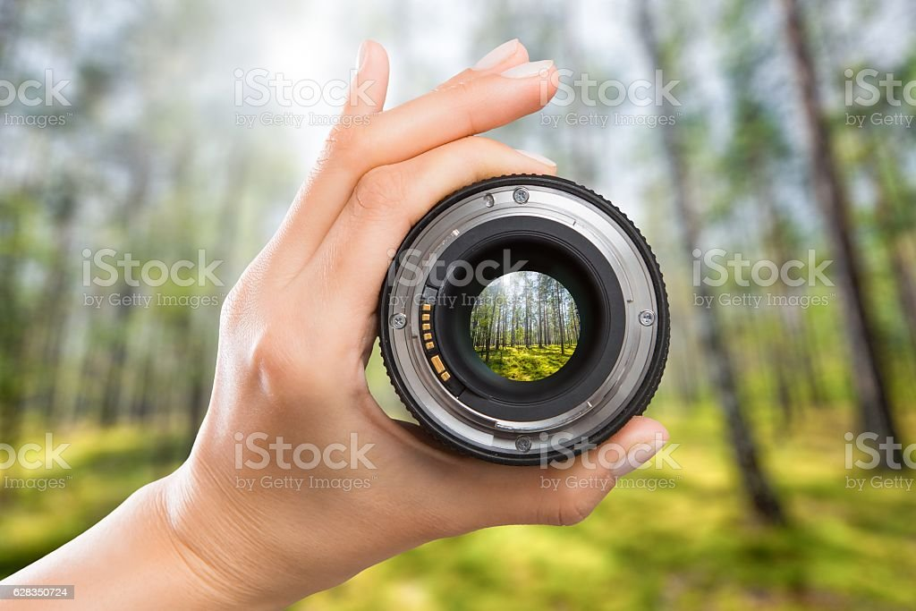 Photography camera lens concept. - Royalty-free Aperture Stock Photo