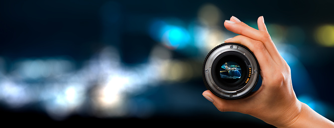 Photography Camera Lens Concept Stock Photo - Download Image Now