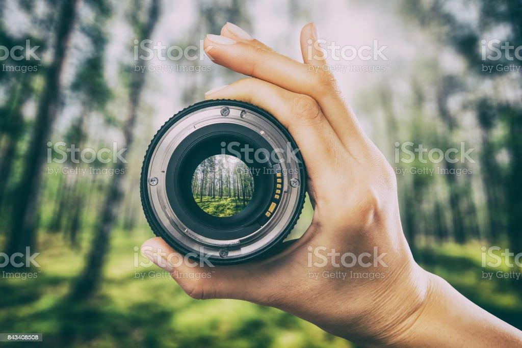 Photography camera lens concept. – zdjęcie