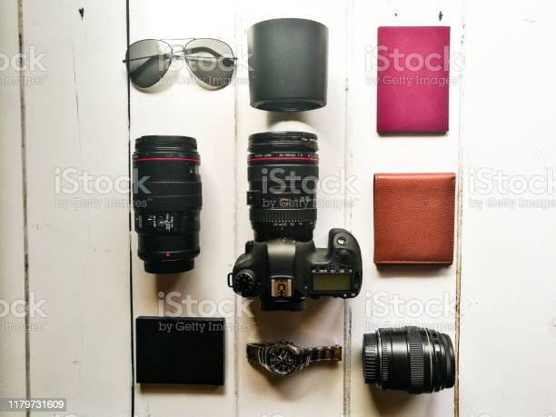 Photography equipment and travel lifestyle flat lay picture id1179731609?b=1&k=6&m=1179731609&s=612x612&h=xt6xesttyh2qmb1peq76ilytpjvrdo654vhtx9fk1ge=