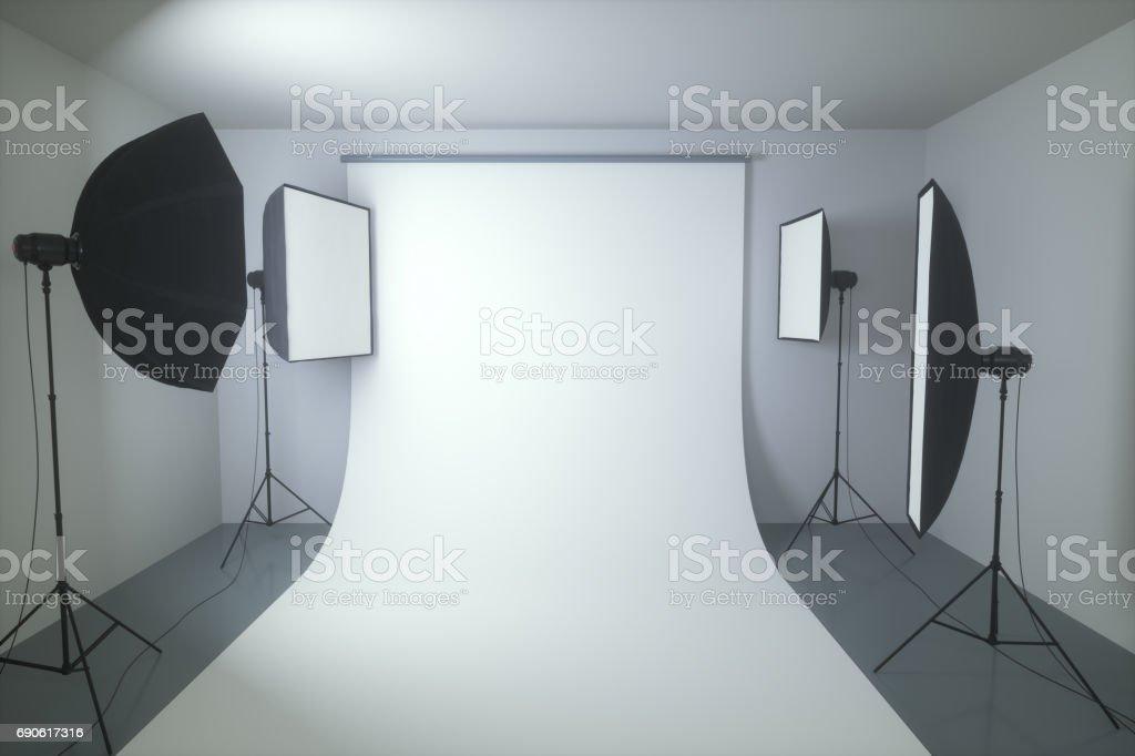Photography Studio Seamless Background stock photo