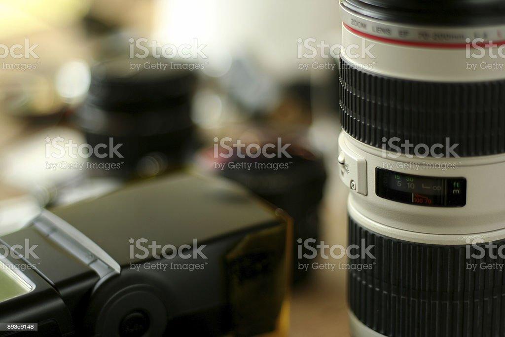 Photograpic attrezzature professionali foto stock royalty-free