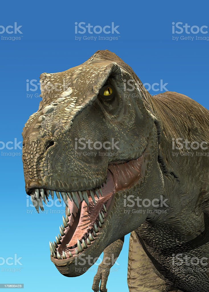 Photorealistic 3D rendering of a Tyrannosaurus Rex. stock photo