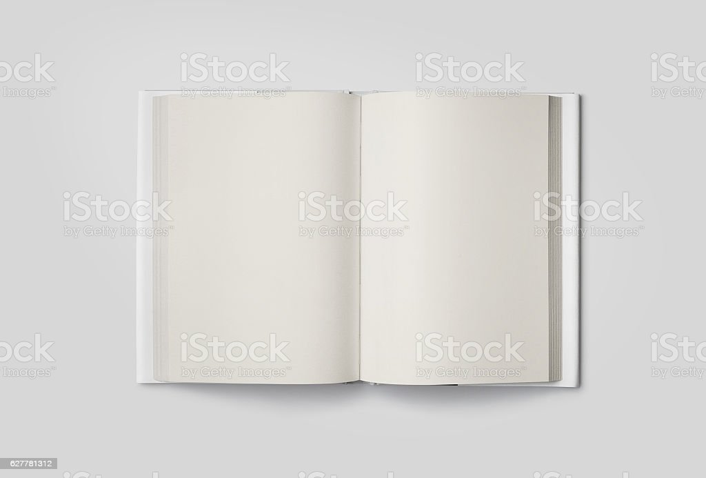 Photorealistic Book Mockup on light grey background. stock photo