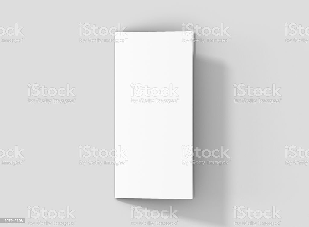Photorealistic DL Bifold Brochure Mockup. stock photo