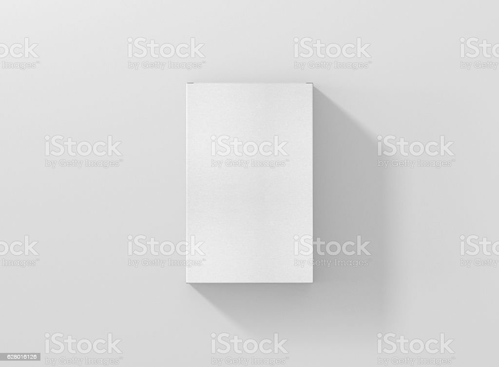 Photorealistic high quality Flat Rectangle Package Box Mockup. stock photo