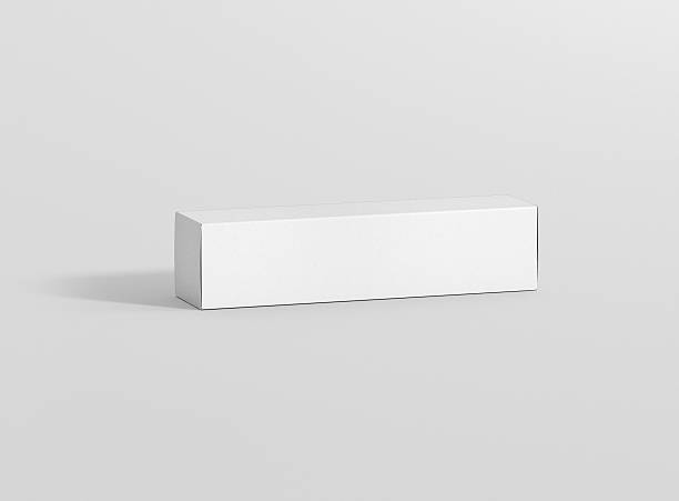 Photorealistic high quality Long Rectangle Package Box Mockup. - Photo