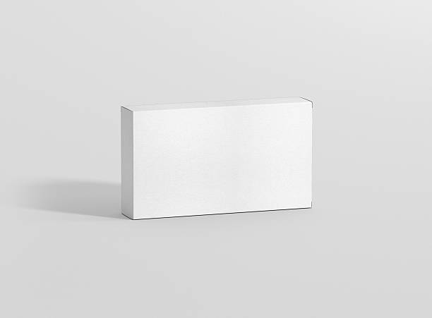 Photorealistic high quality Wide Flat Rectangle Package Box Mockup. - Photo