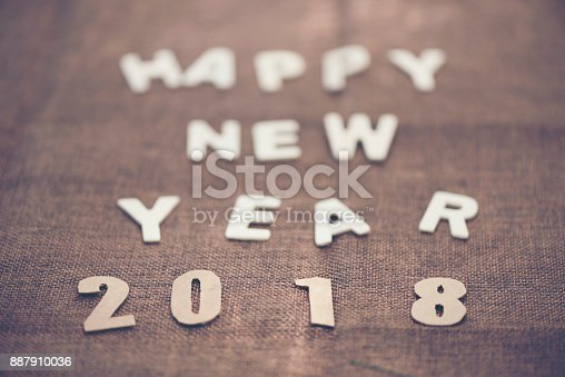 istock Photos for celebrating the New Year 2018. 887910036