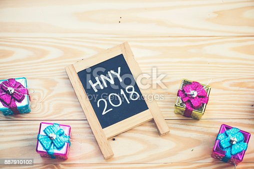 istock Photos for celebrating the New Year 2018. 887910102