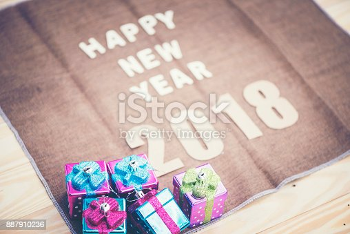 istock Photos for celebrating the New Year 2018. 887910236