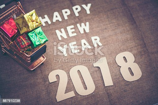 istock Photos for celebrating the New Year 2018. 887910238