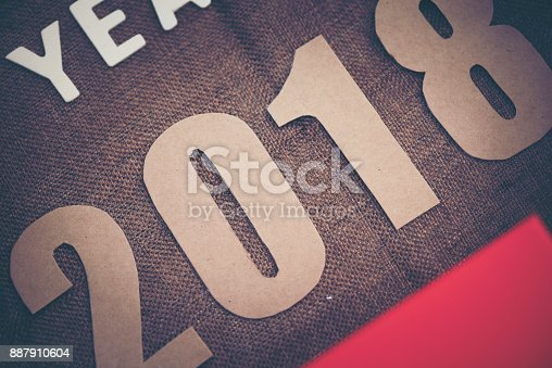 istock Photos for celebrating the New Year 2018. 887910604