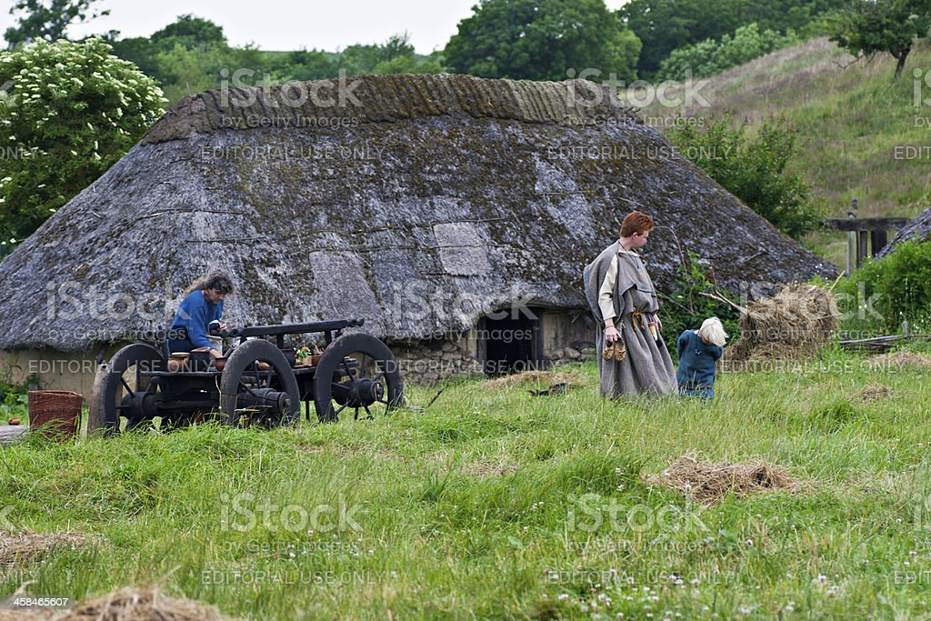 Photos from Iron Age Village, Sagnlandet Lejre, Denmark stock photo