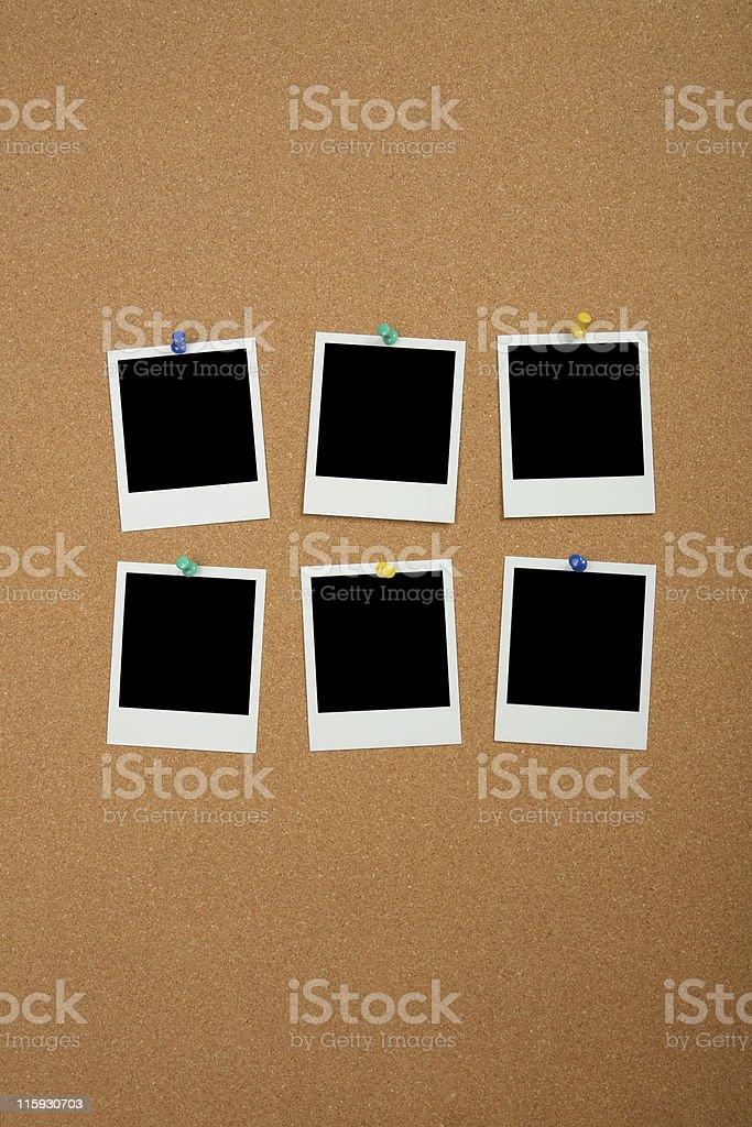 Photos on Cork Board royalty-free stock photo