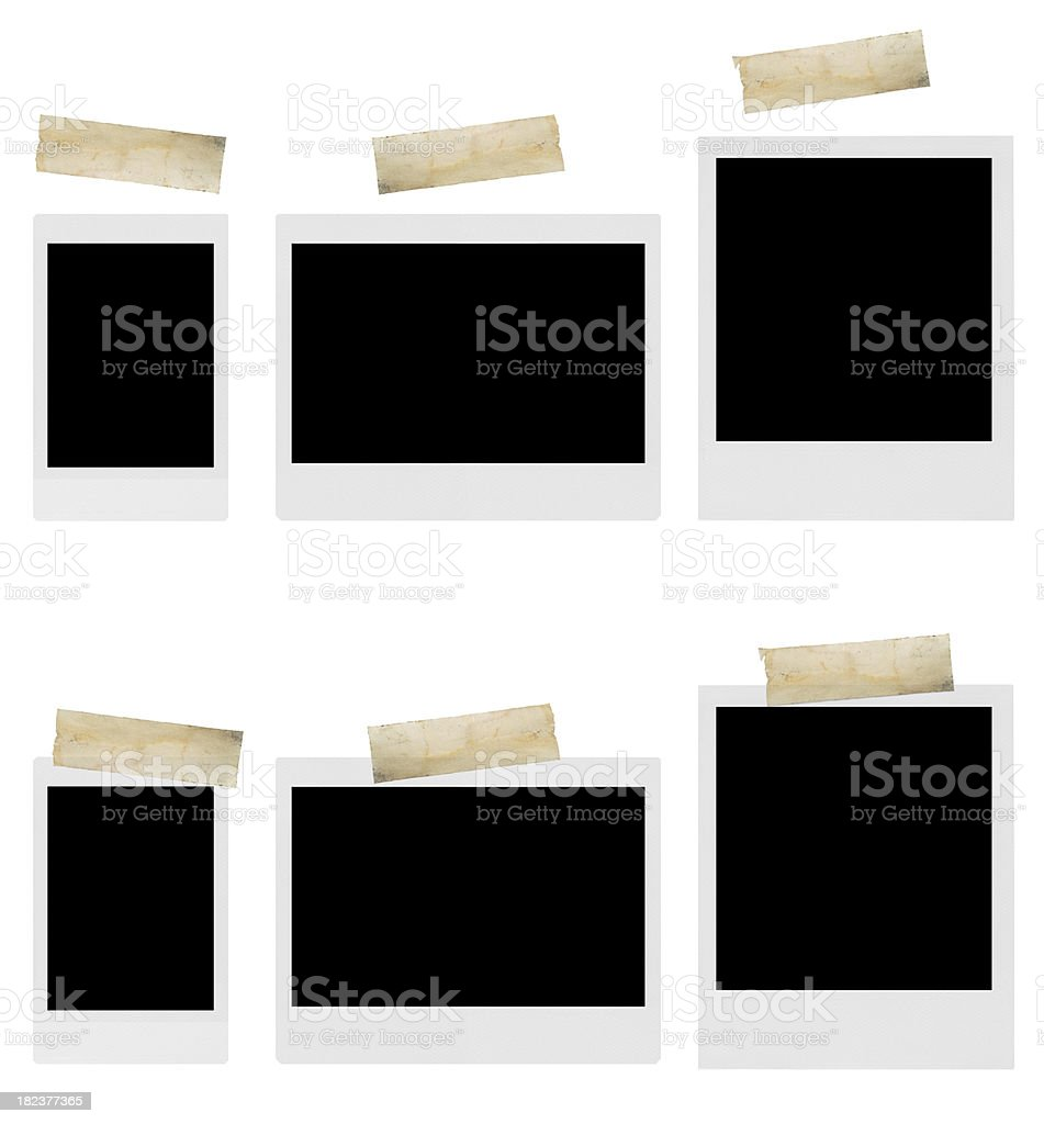 photos with adhesive tape royalty-free stock photo