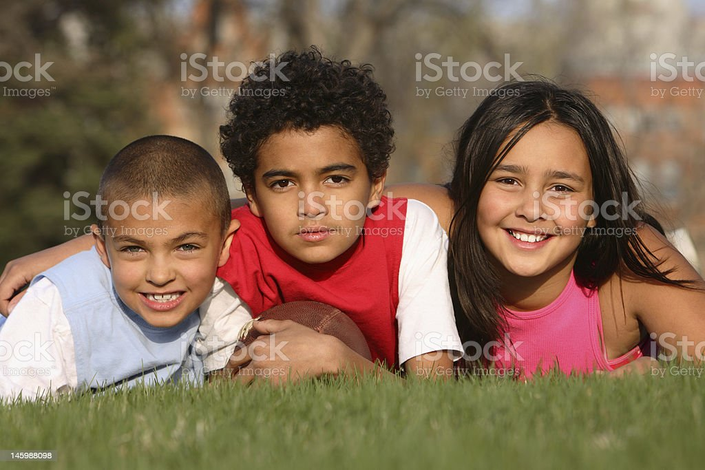 A Photoshoot Of Three Kids With Different Races Stock ...