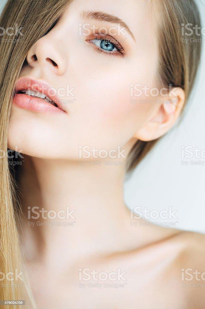 Photoshot of young beautiful woman stock photo