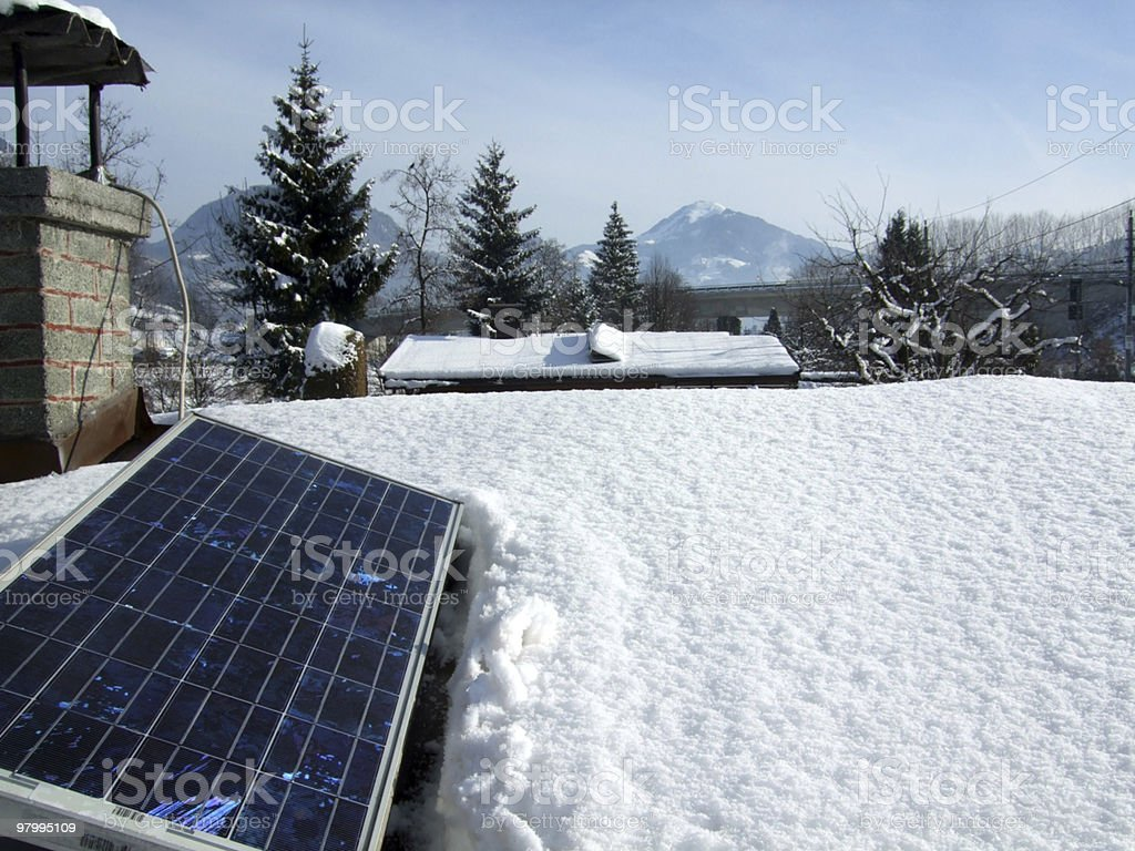 Photovoltaic 12 Volt royalty-free stock photo