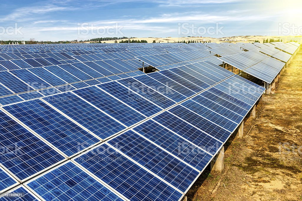 photovoltaic cells royalty-free stock photo