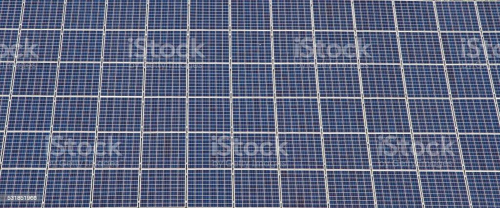 Photovoltaic modules stock photo