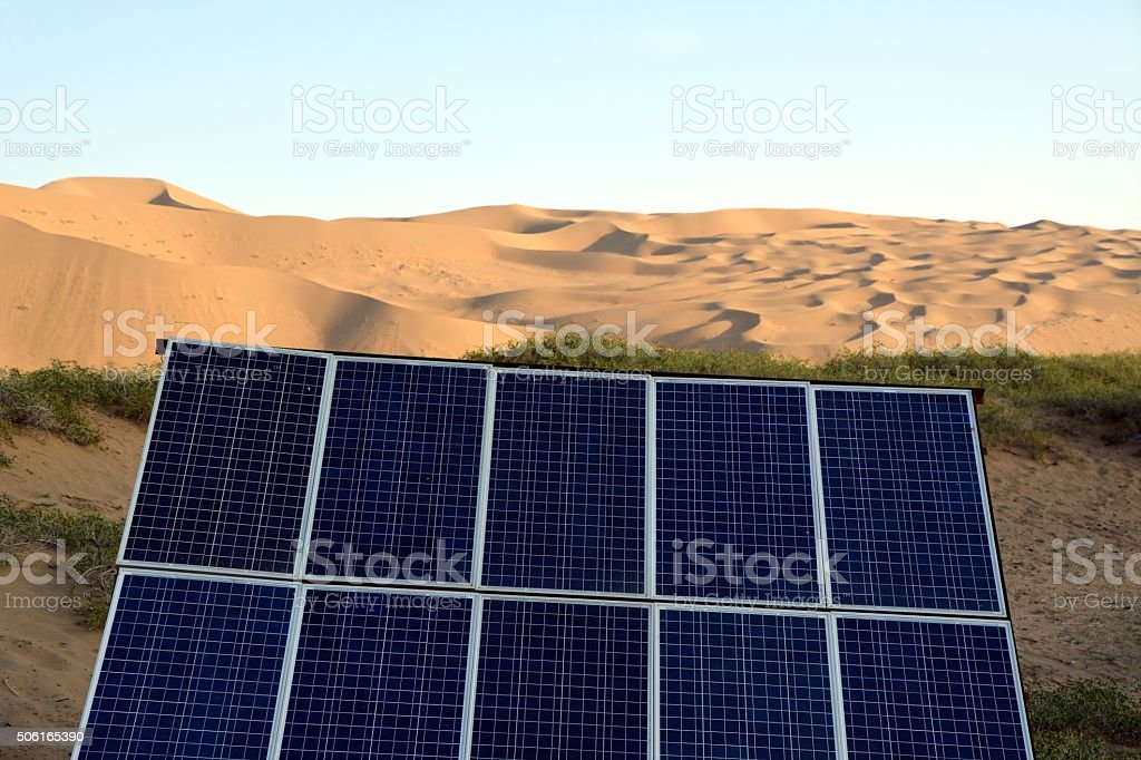 Photovoltaic Panel In Badain Jaran Desert Inner Mongolia ...