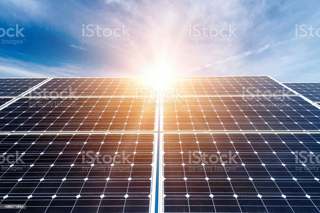 photovoltaic panels - alternative electricity source stock photo