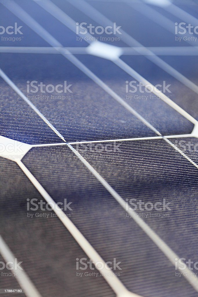 Photovoltaic panels - solar energy concept royalty-free stock photo