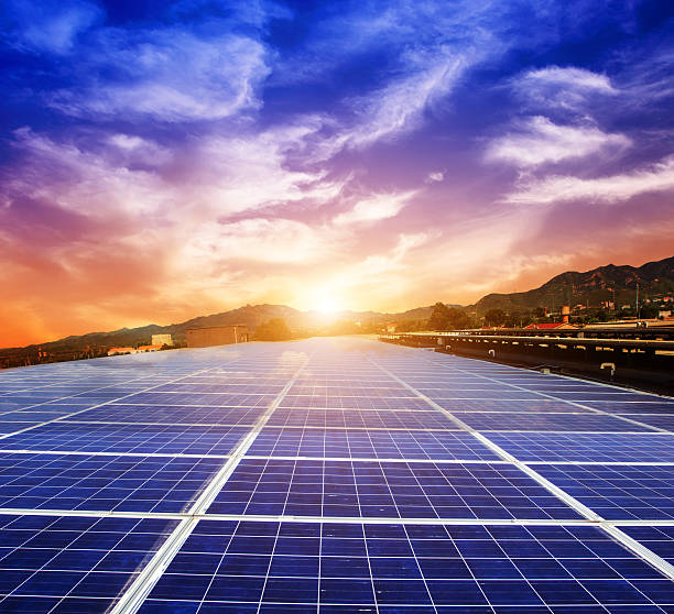 Photovoltaic power generation stock photo