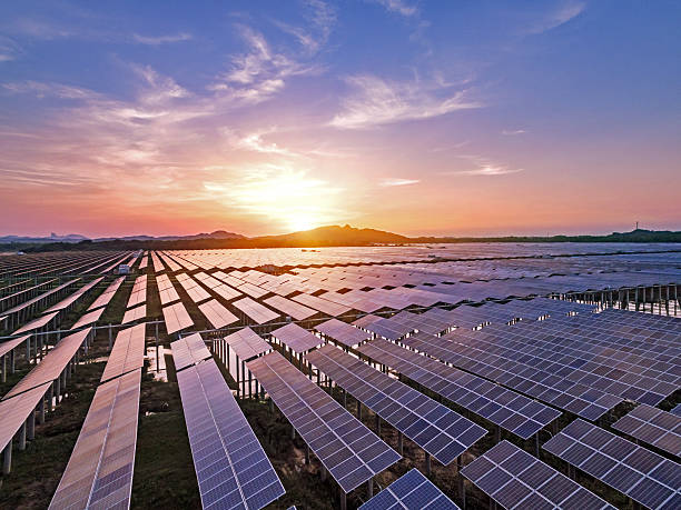 Photovoltaic power plant Photovoltaic power plant solar panels photos stock pictures, royalty-free photos & images