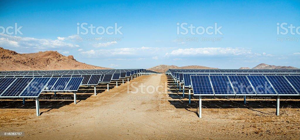 Photovoltaic Solar Array In Rosamond, California royalty-free stock photo