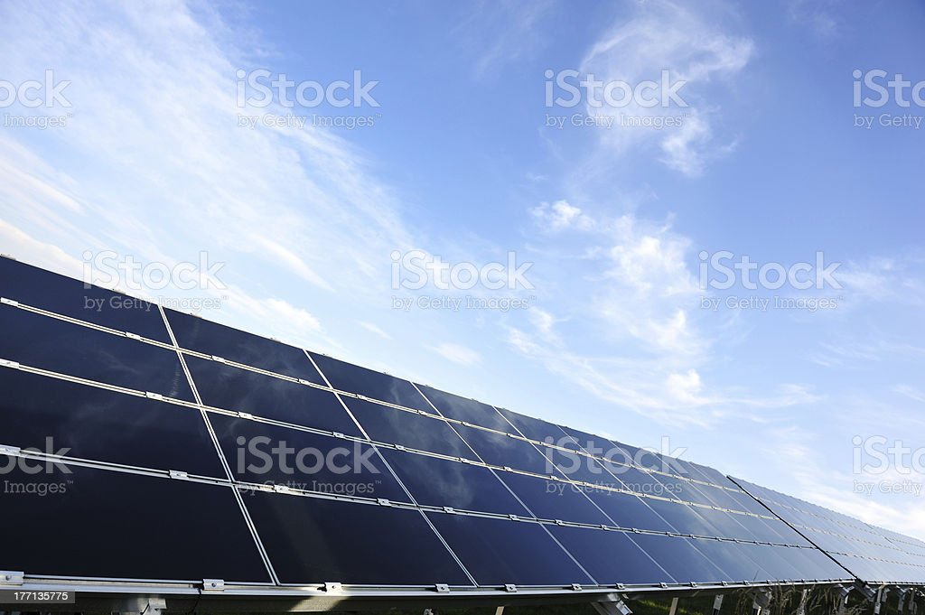 photovoltaic solar panels with copy space royalty-free stock photo