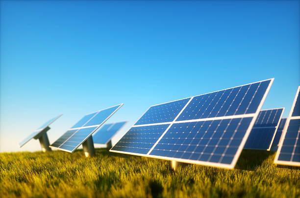 Photovoltaic mit blauem Himmel – Foto