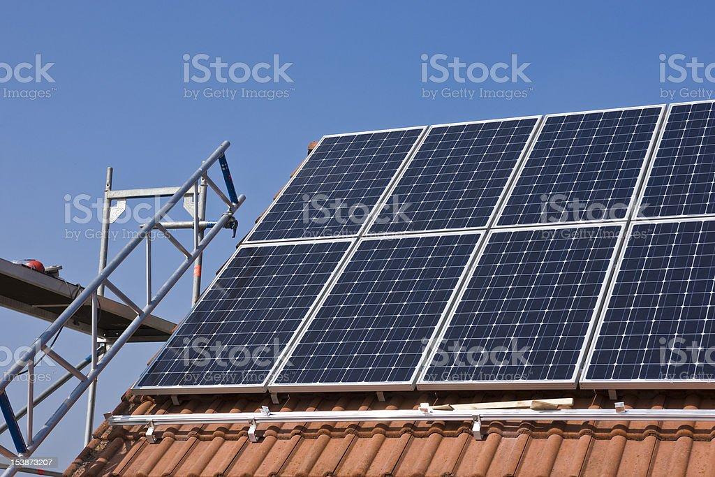 Photovoltaics installation stock photo