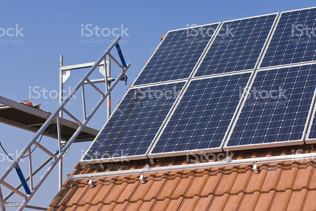 Photovoltaics mounting stock photo