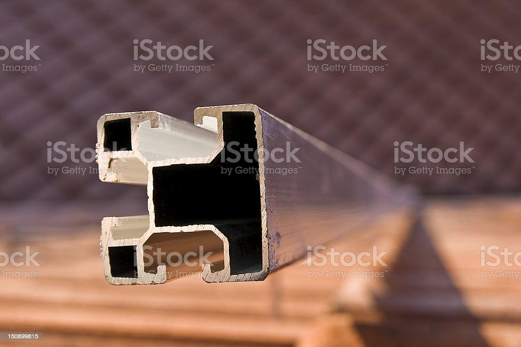 Photovoltaics mounting profile stock photo
