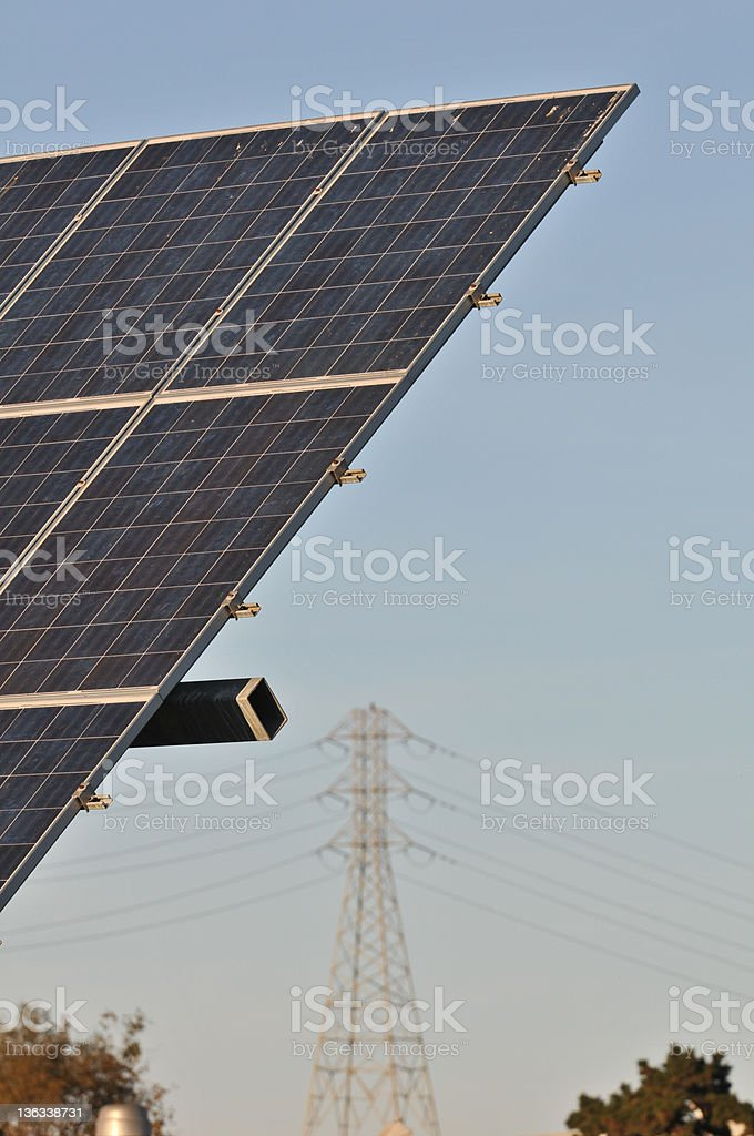 Photovoltaics Panels Getting Energy from the Sunlight. royalty-free stock photo