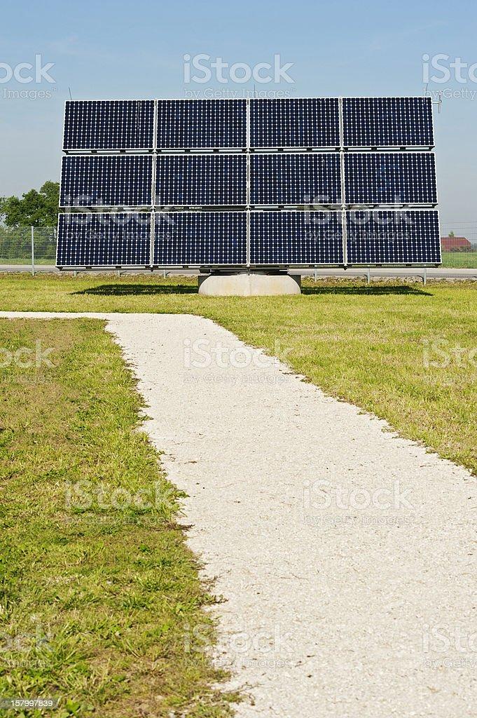 Photovoltaik - alternative energy: large solar panel stock photo