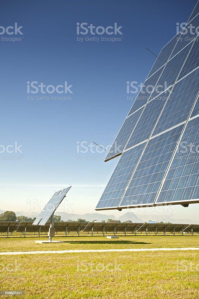 Photovoltaik - renewable and green engery: solar panels stock photo