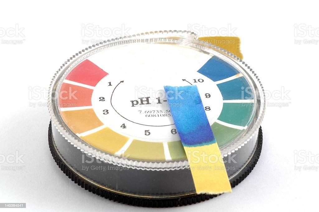 pH-Paper stock photo