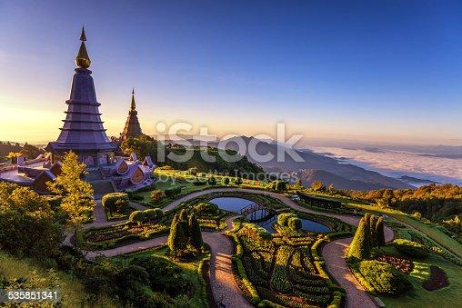 istock Phra Maha Dhatu Nabha Metaneedol,Pagoda at Doi Inthanon 535851341